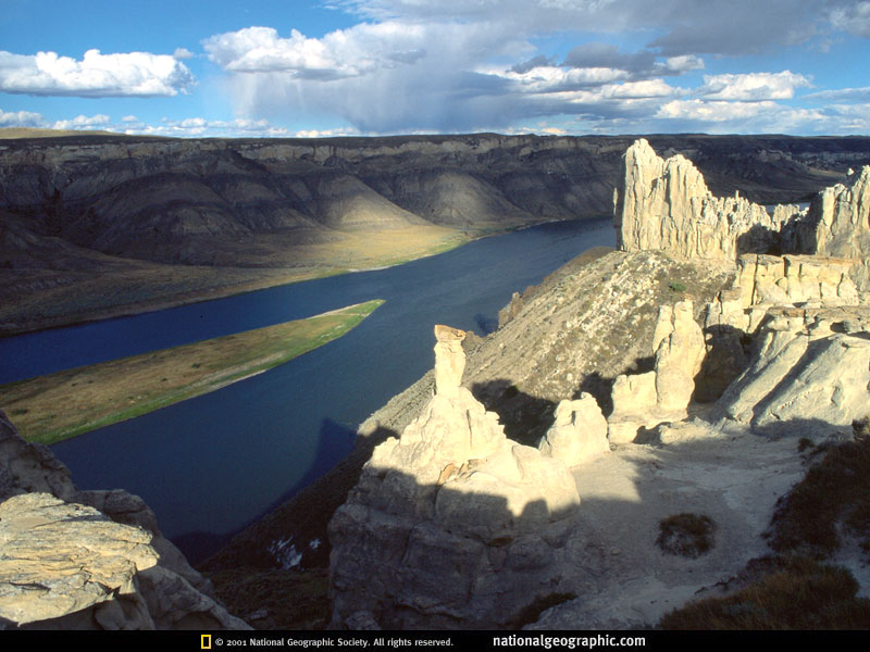 Missouri River in eastern Montana